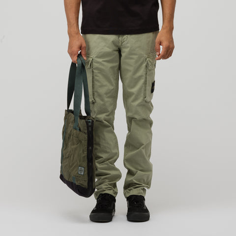Stone Island 91170 Medium Fabric Bag in Sage Green - Notre