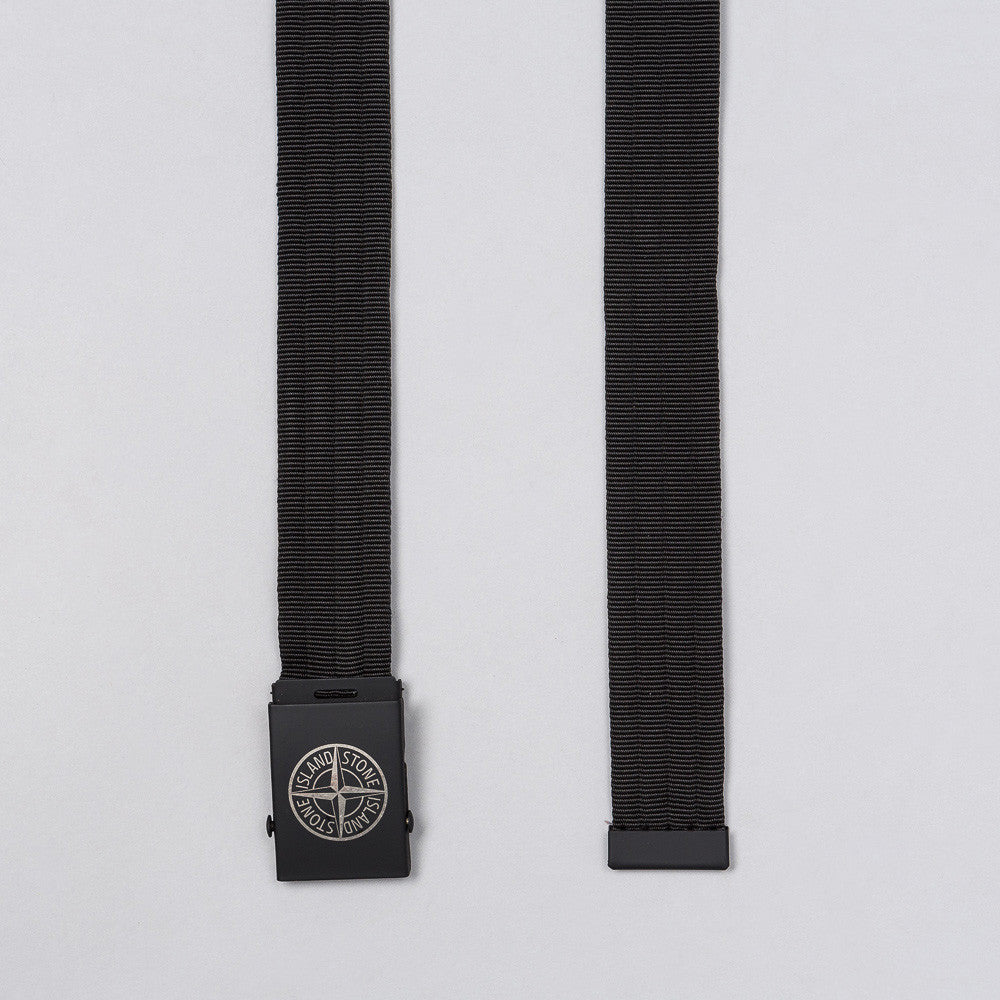 Stone Island Logo Nylon Belt in Black - Notre
