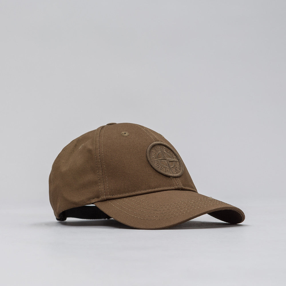 Stone Island 99168 Logo Cap in Olive - Notre