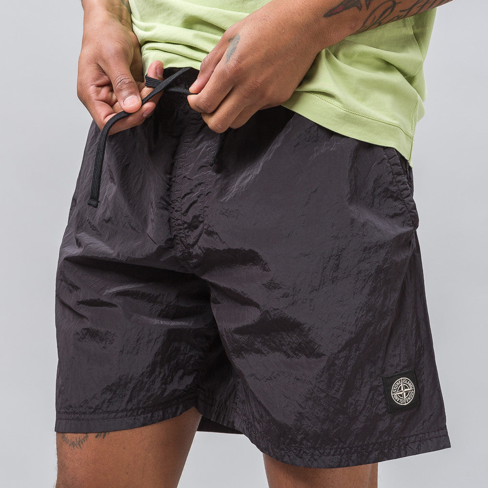 Stone Island B0244 Nylon Metal Swim Shorts in Black - Notre