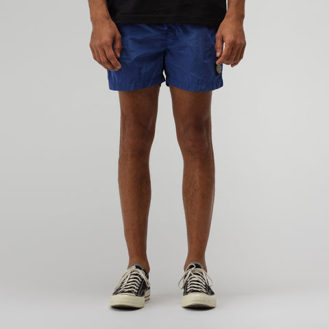 Stone Island B0643 Nylon Metal Swim Trunks in Periwinkle - Notre