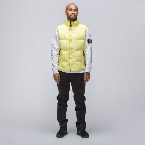 Stone Island G0223 Down Vest in Citron Yellow - Notre