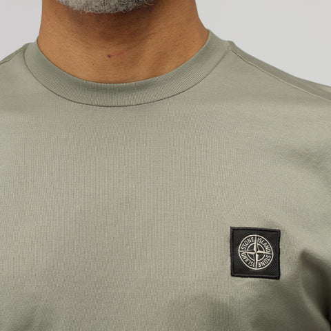 Stone Island 24113 Short Sleeve T-Shirt in Sage Green - Notre