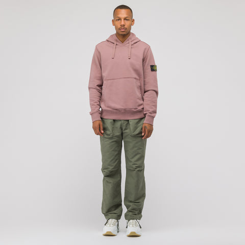 Stone Island 62820 Hooded Sweatshirt in Rose Quartz - Notre