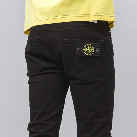 Stone Island 5 Pocket Skinny Fit Denim in Black Wash - Notre