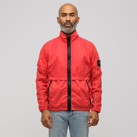 Stone Island 42031 Lamy Velour Jacket in Red Orange - Notre