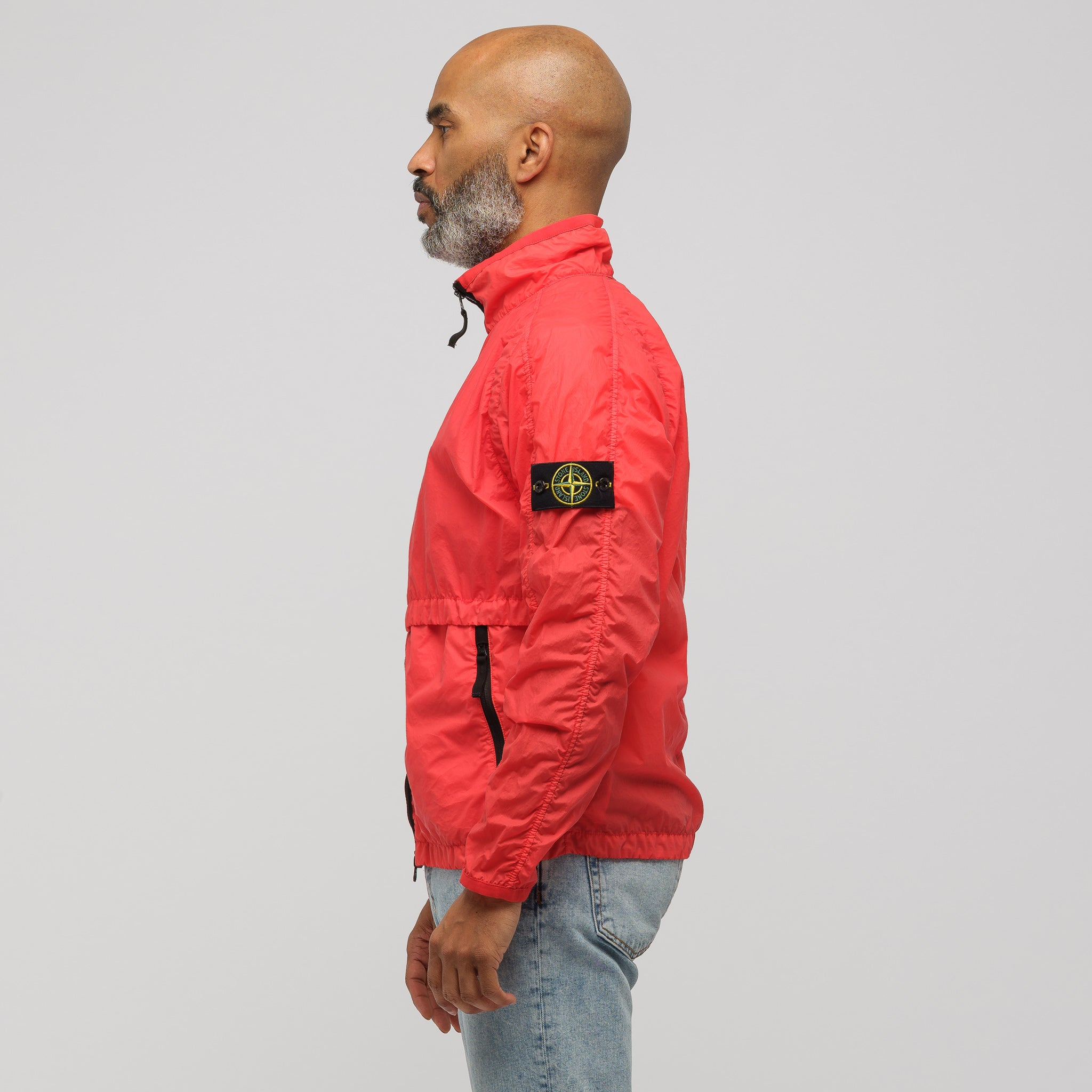 42031 Lamy Velour Jacket in Red Orange