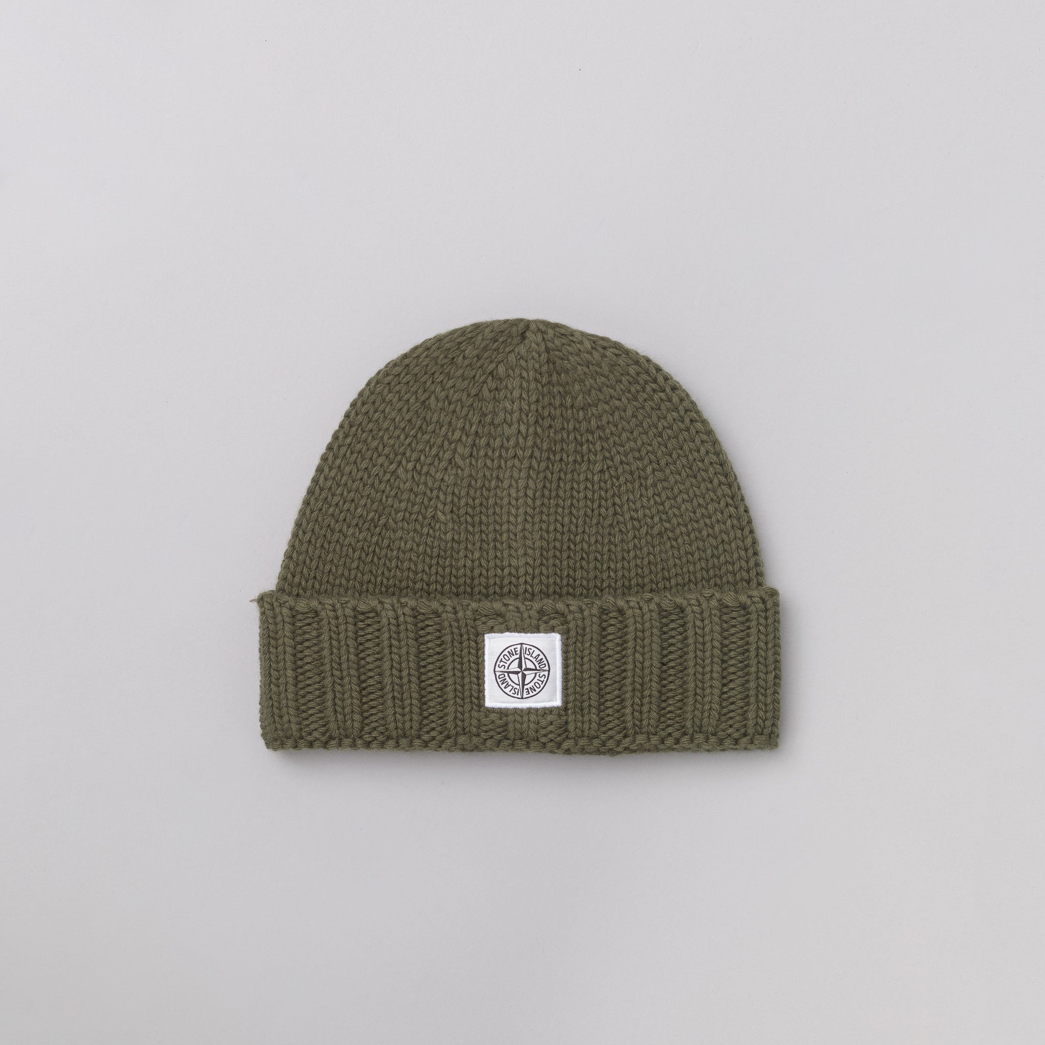 N07C1 Knit Logo Cap in Olive
