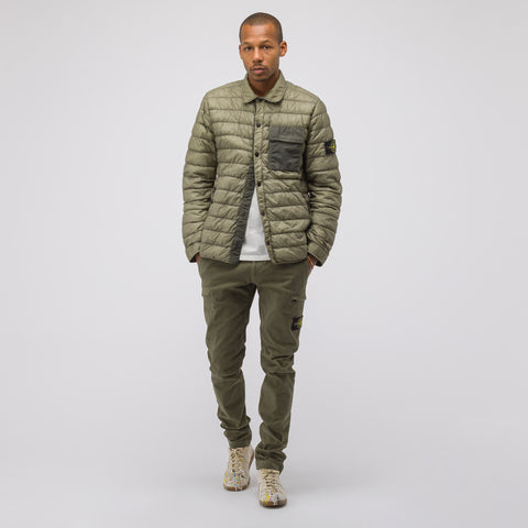 Stone Island Q0324 Garment Dyed Micro Down Packable Jacket in Olive - Notre