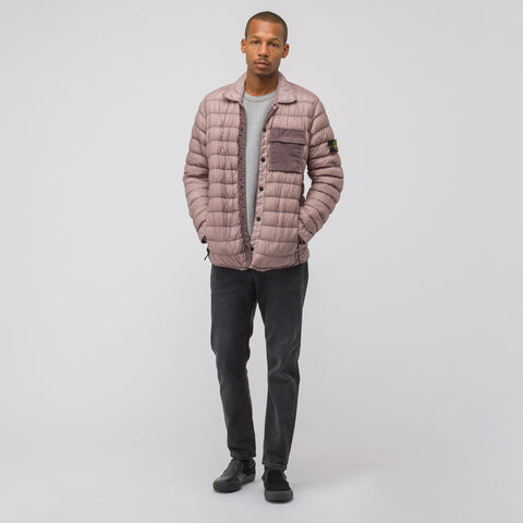 Stone Island Q0324 Garment Dyed Micro Down Packable Jacket in Rose Quartz - Notre