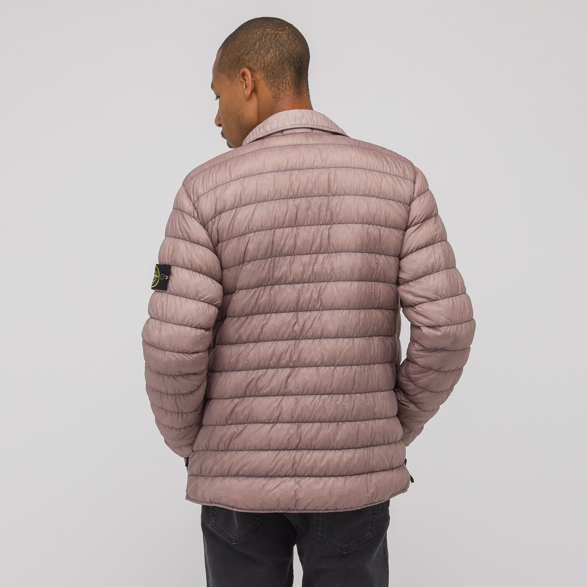 Q0324 Garment Dyed Micro Down Packable Jacket in Rose Quartz