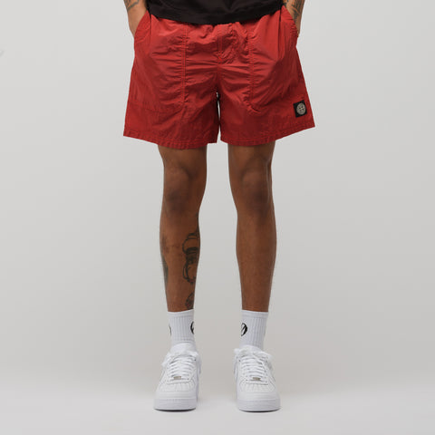 Stone Island B0519 Short in Red - Notre