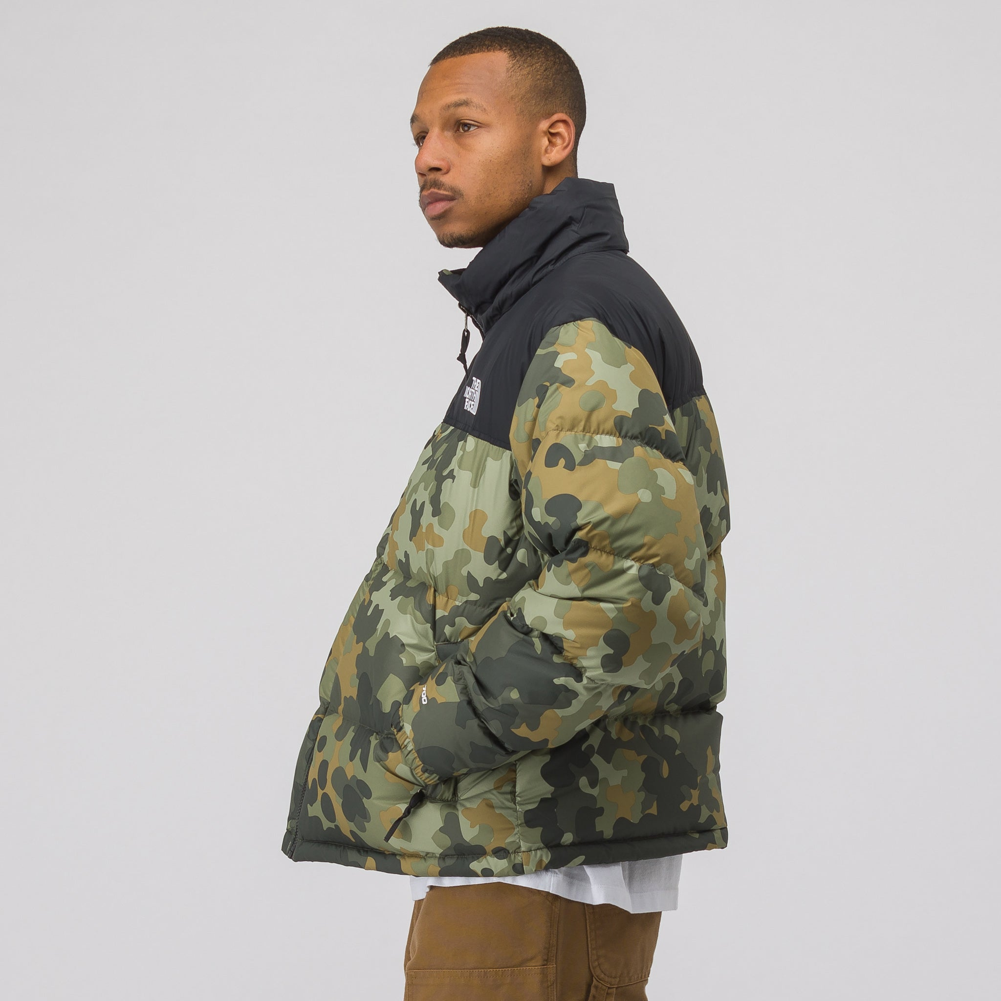 1996 Seasonal Nuptse Jacket in Camo/Black