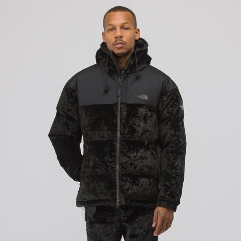 The North Face Black Label Velvet Nuptse Jacket in Black - Notre