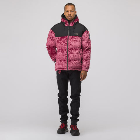 The North Face Black Label Velvet Nuptse Jacket in Regal Red - Notre