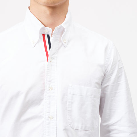 Classic L/S BD PC Oxford Shirt in White