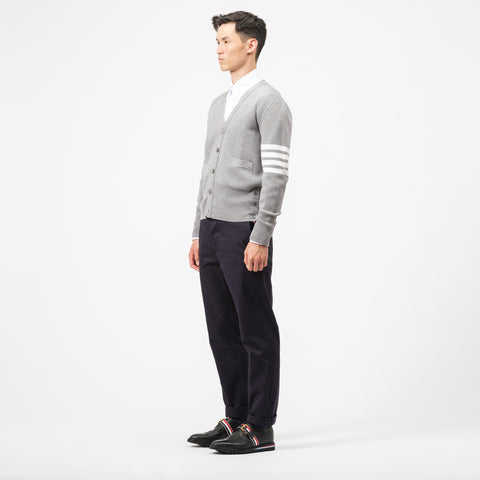Milano Stitch V-Neck Cardigan in Grey