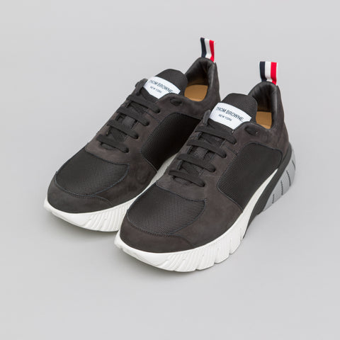 Thom Browne Raised Running Shoe in Black - Notre
