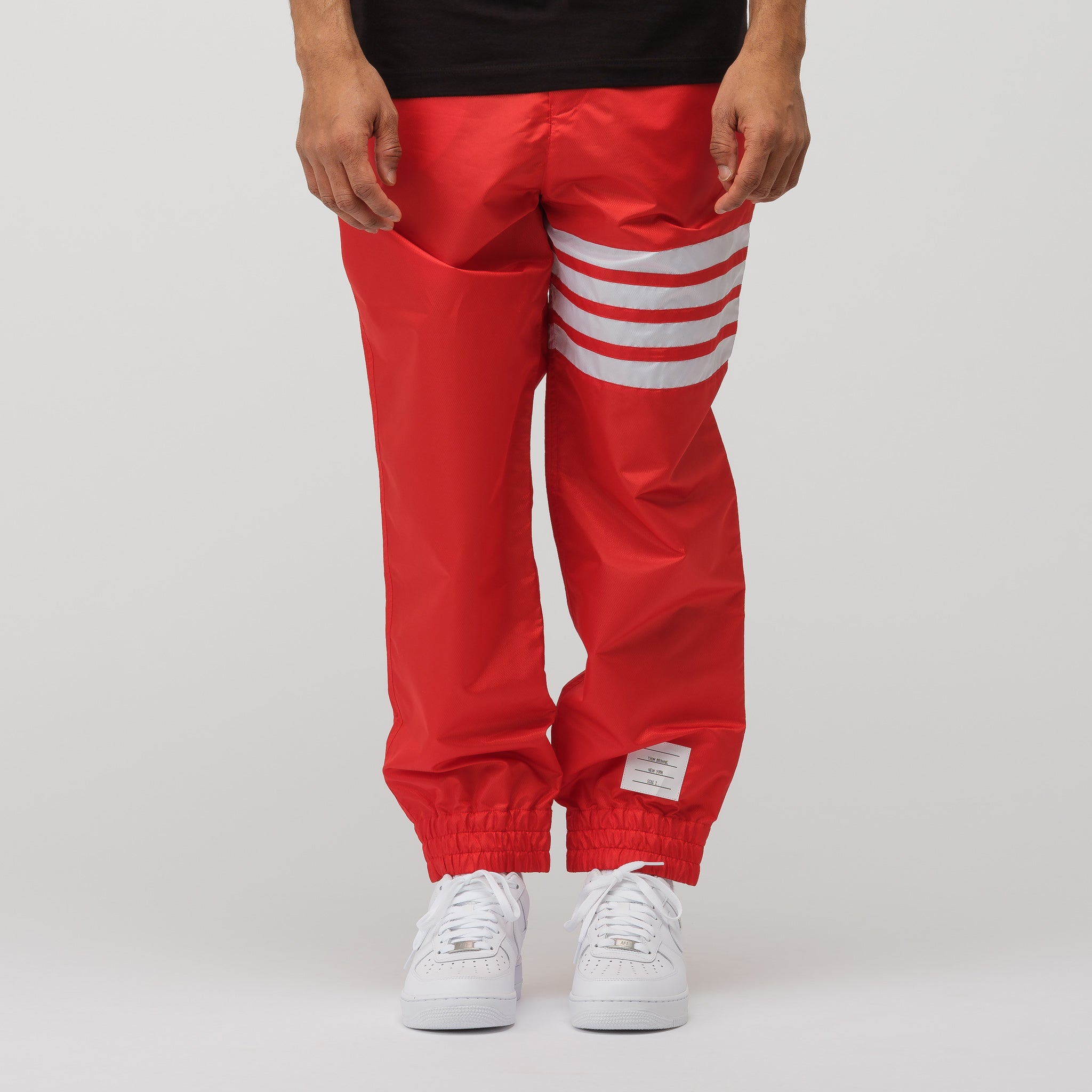 Relaxed Fit Track Pant in Red