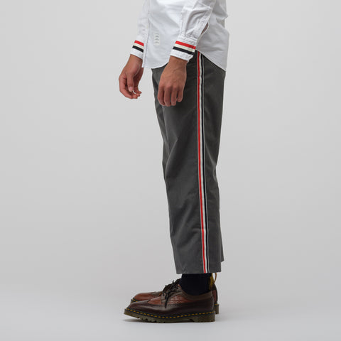 Thom Browne Unconstructed Beltloop Trouser in Medium Grey - Notre