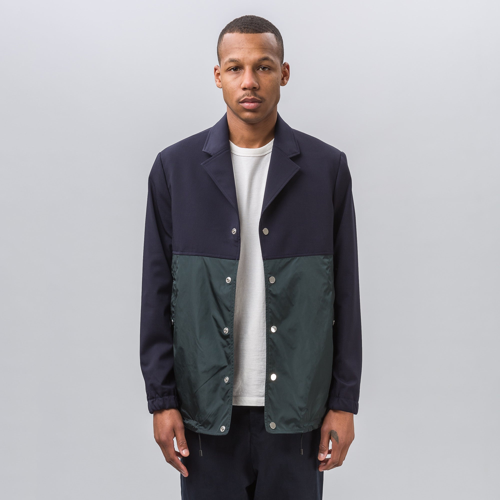 Coach Jacket in Navy/Dark Green