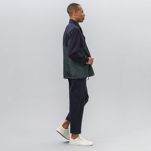Tim Coppens Coach Jacket in Navy/Dark Green - Notre