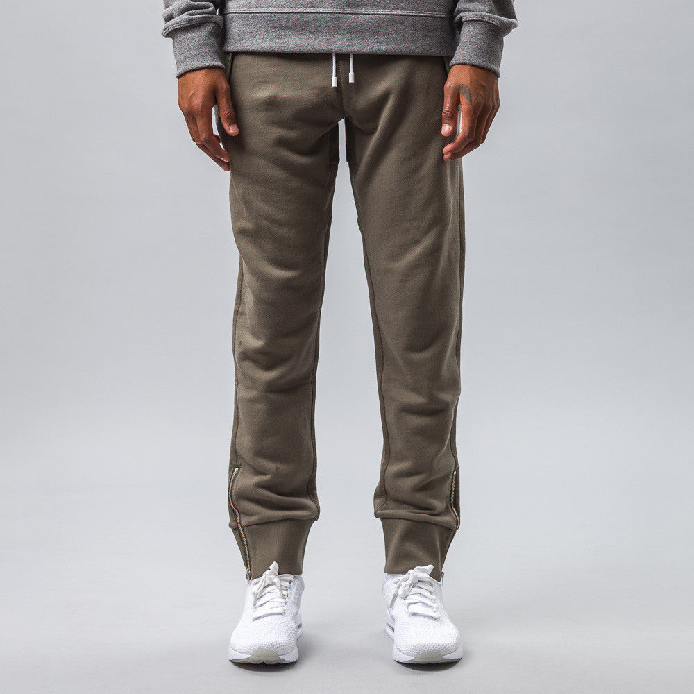 Tim Coppens Core Knit Jogger in Khaki Model Shot
