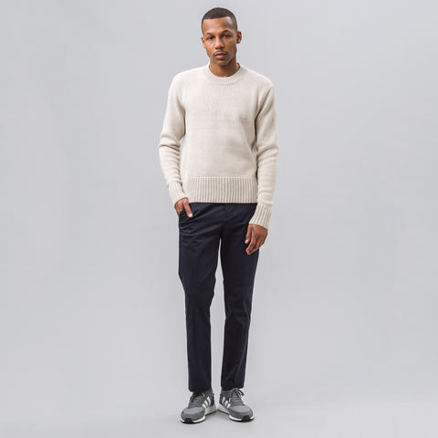 Tim Coppens Cropped Tailored Trouser in Navy - Notre