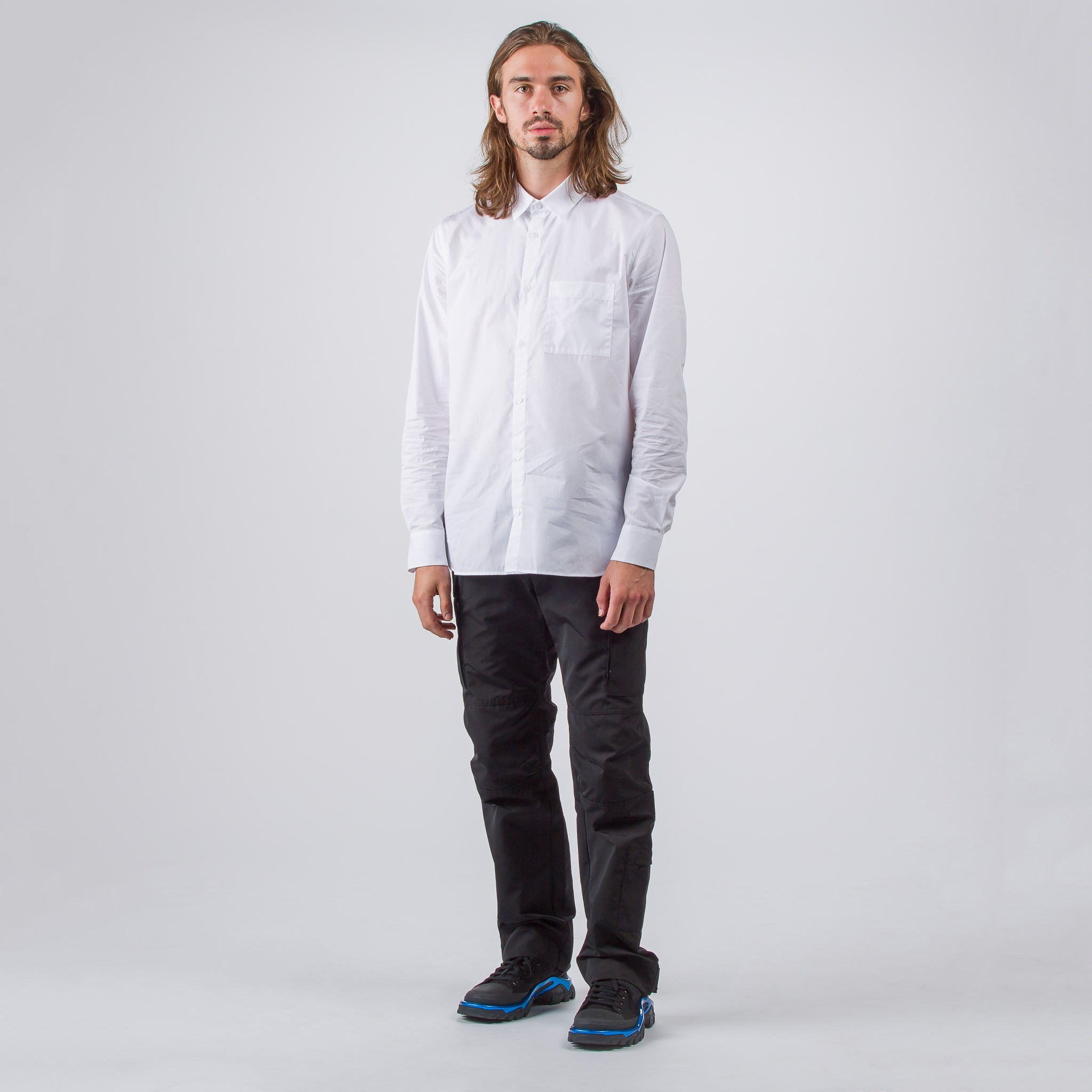Double Backyoke Shirt in White