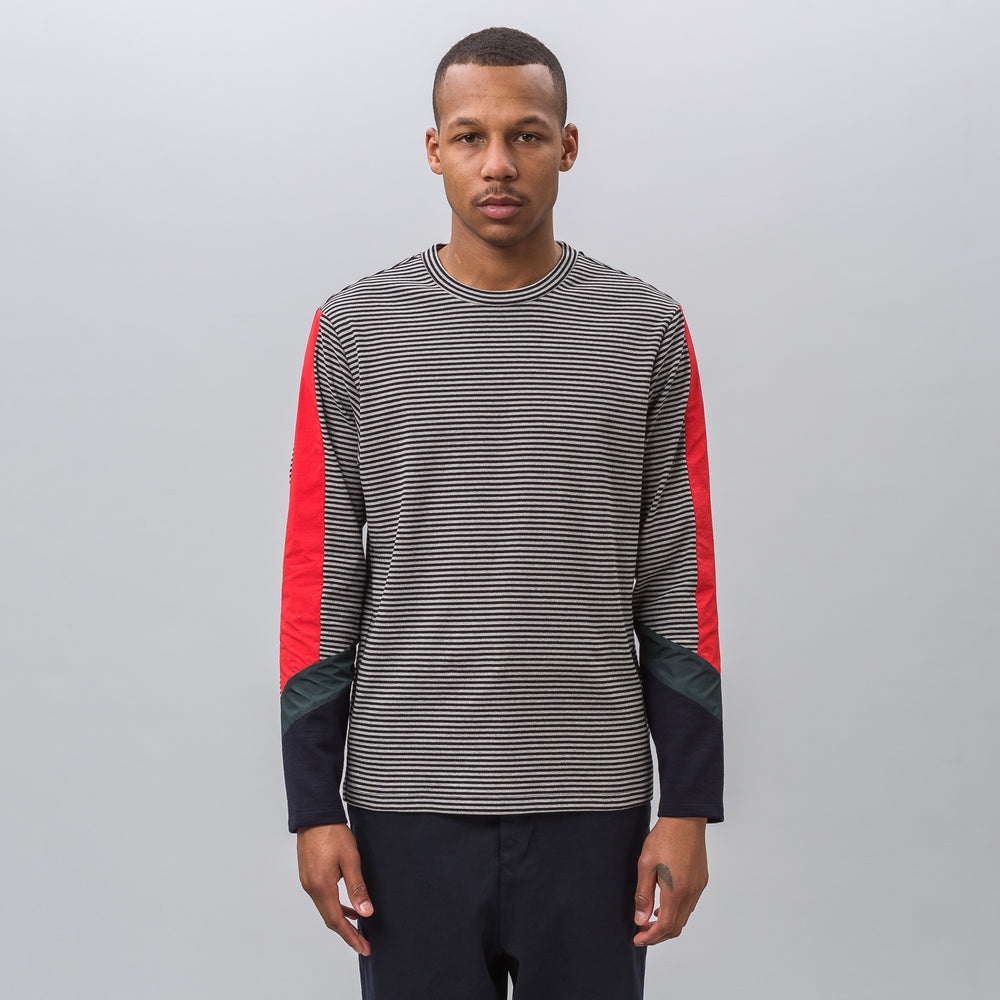 Tim Coppens Gear L/S Tee in Grey Stripe Multi - Notre