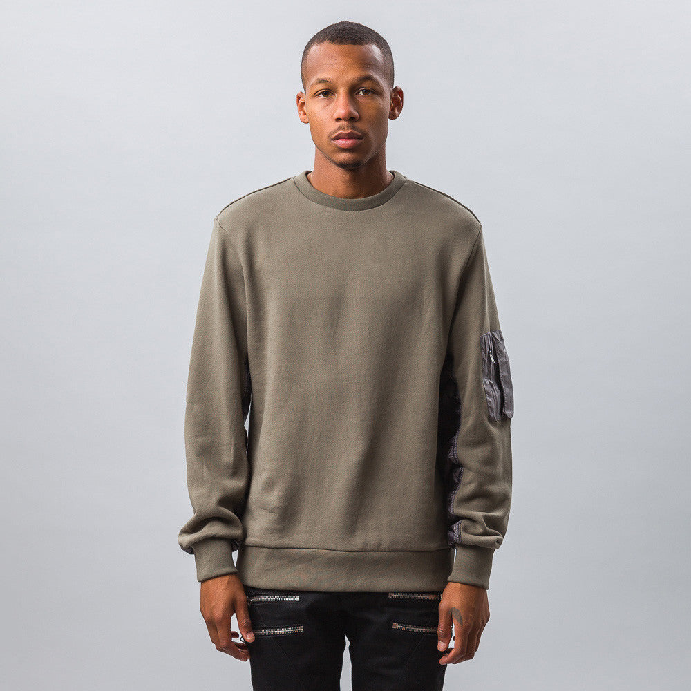 Tim Coppens MA-1 Crew in Khaki Model Shot
