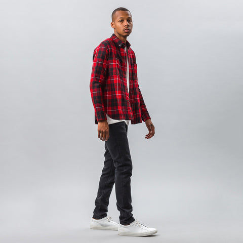 Tim Coppens Worker Shirt in Red Check - Notre