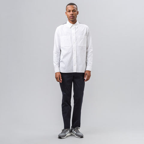 Tim Coppens Worker Shirt in White Multi - Notre