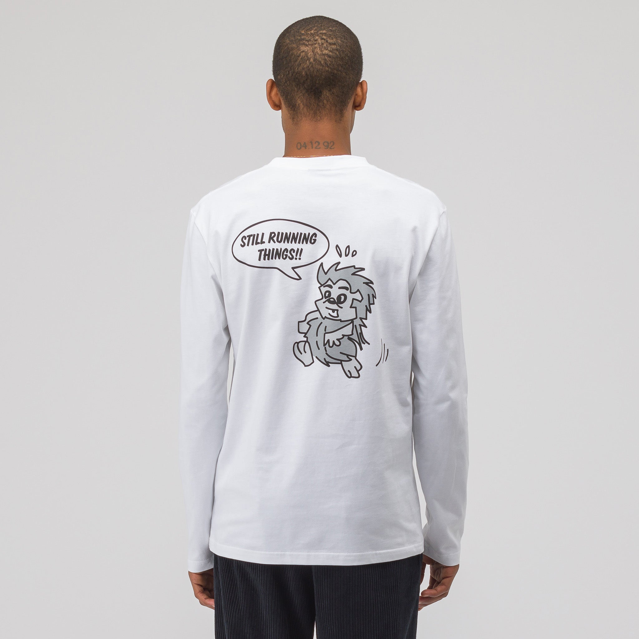 Souvenir Long Sleeve Anniversary T-Shirt in White