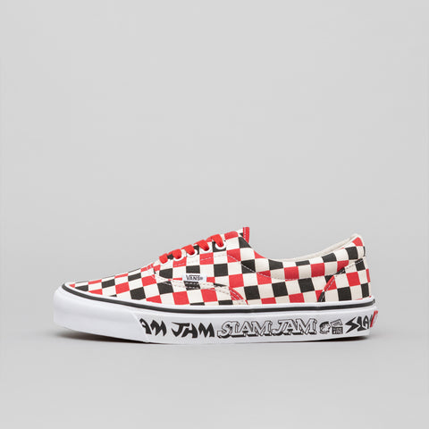 Vans Vault x Slam Jam 5x5 Era LX in White/Black/Red - Notre