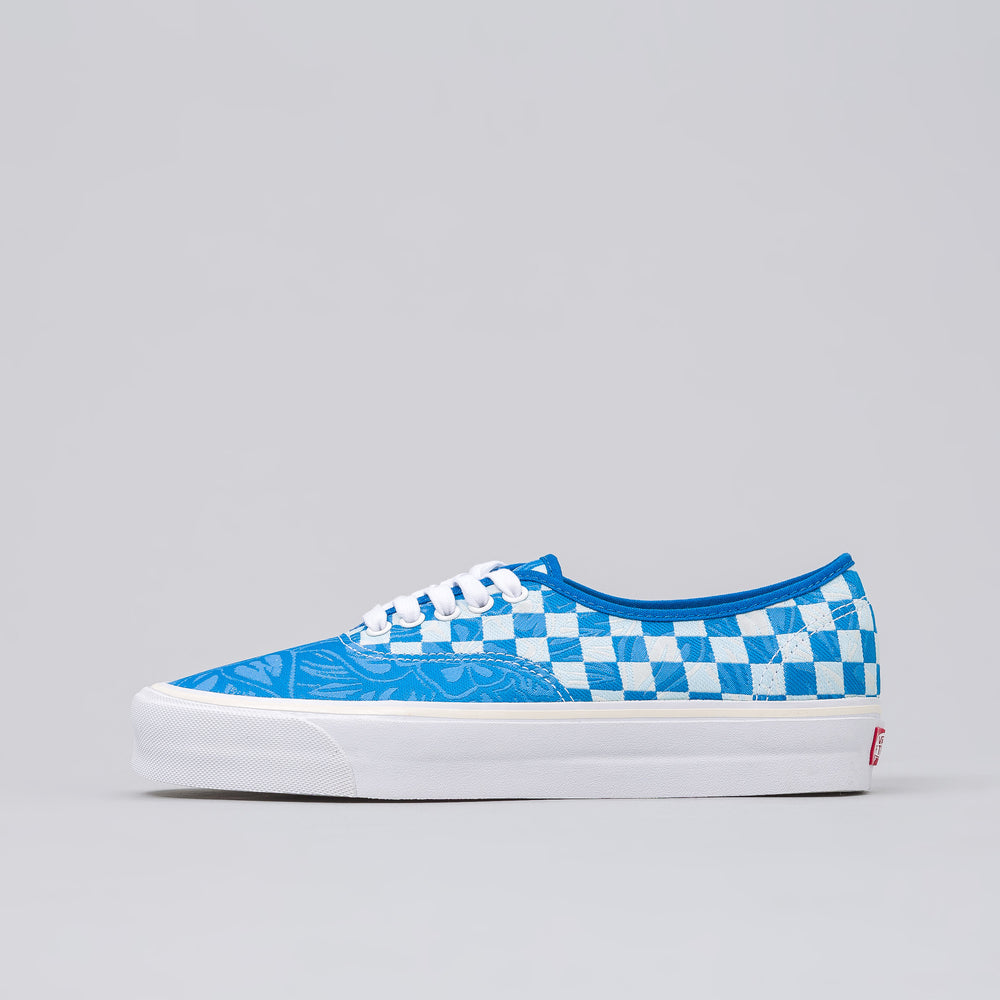 Vans Vault Authentic Jacquard Jungle Check in Blue - Notre
