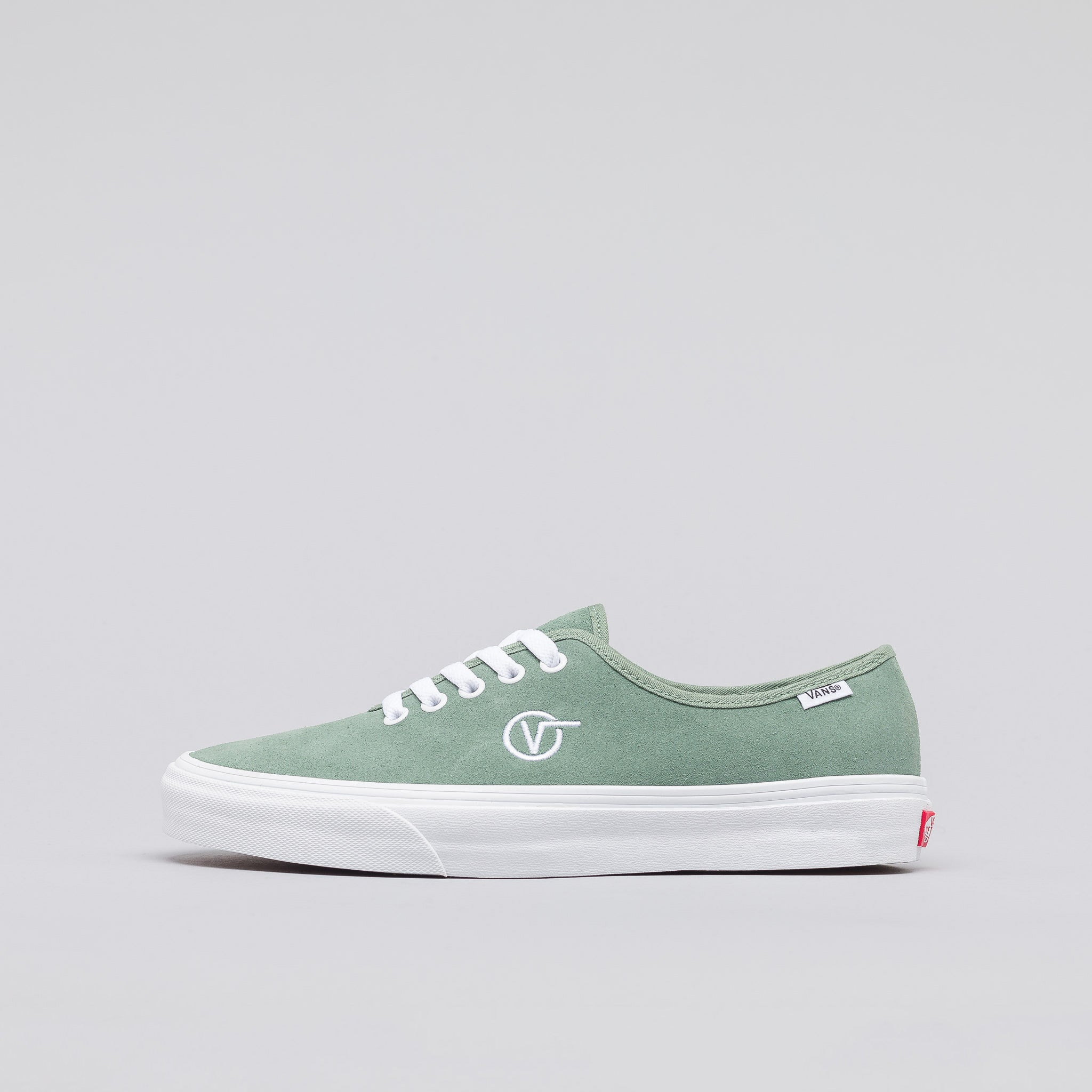 Authentic One Piece Circle V in Green Bay Suede