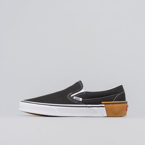 Vans Classic Slip-On Gum Block in Black - Notre