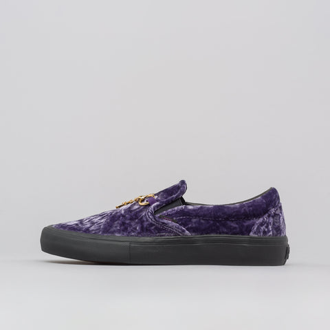 Vans Vault x Needles Classic Slip-On Velvet in Purple - Notre