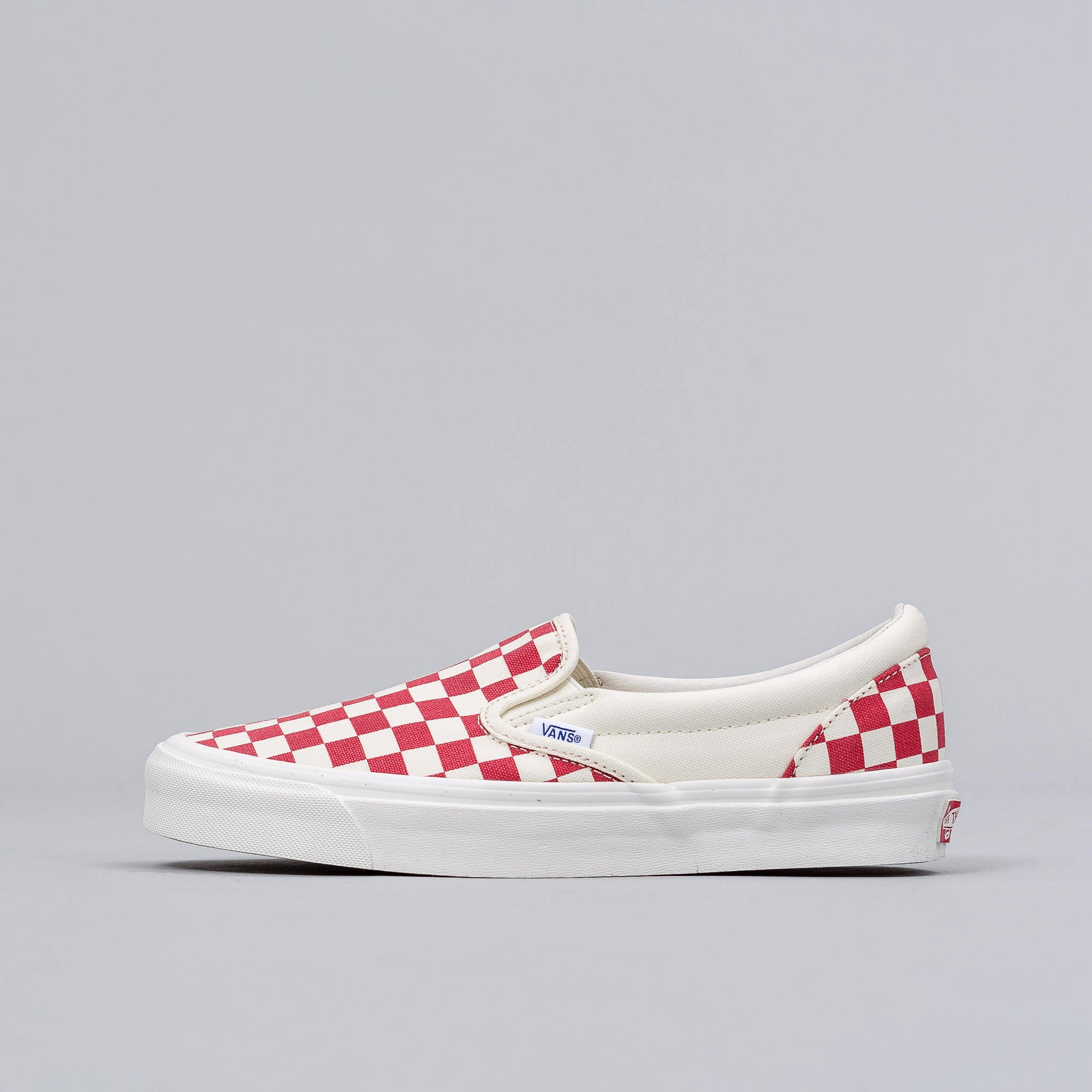 Classic Slip-on in Red Checkerboard