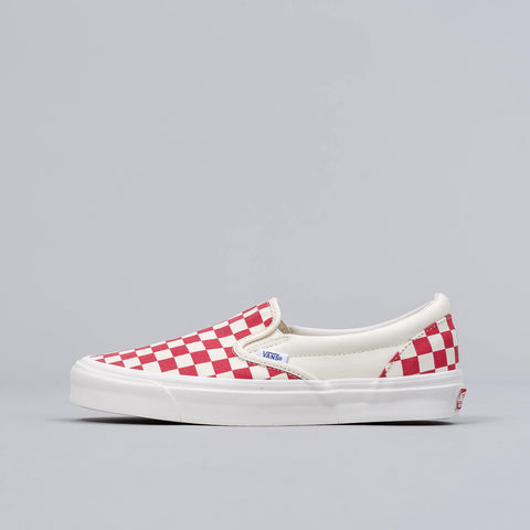 Vans Vault Classic Slip-on in Red Checkerboard - Notre