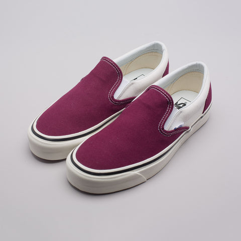 Vans Classic Slip-On 9 Anaheim Factory in OG Burgundy - Notre