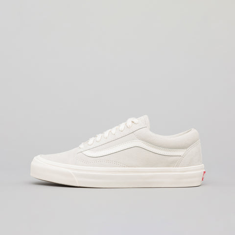 Vans Vault Old Skool LX Leather/Suede in Marshmallow - Notre