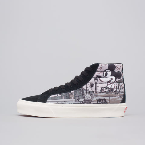 Vans Vault x Disney x Mr Cartoon Sk8-Hi LX in Black - Notre