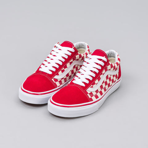 Vans Old Skool Checkerboard in Red/White - Notre