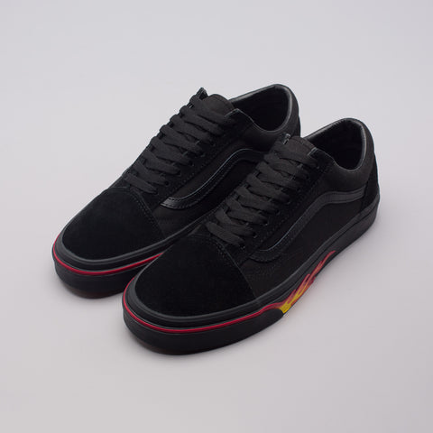 Vans Old Skool Flame Wall in Black - Notre