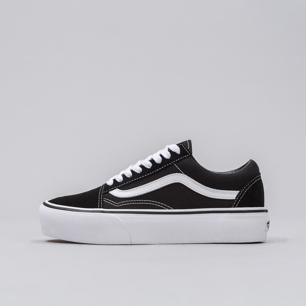 Vans Old Skool Platform in Black/White - Notre