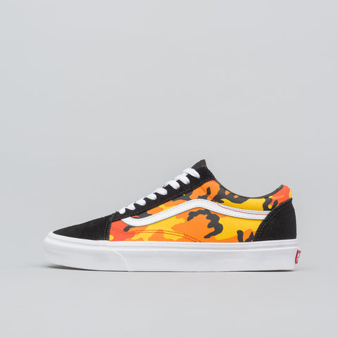 Vans Old Skool Pop Camo in Black/Orange - Notre