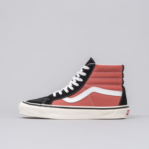Vans Sk8-Hi 38 DX Anaheim Factory in Black/Rust - Notre