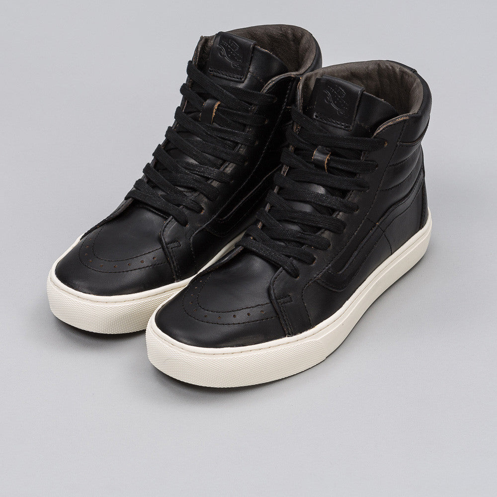 Vans Sk8-Hi Cup LX in Black Horween Leather 1